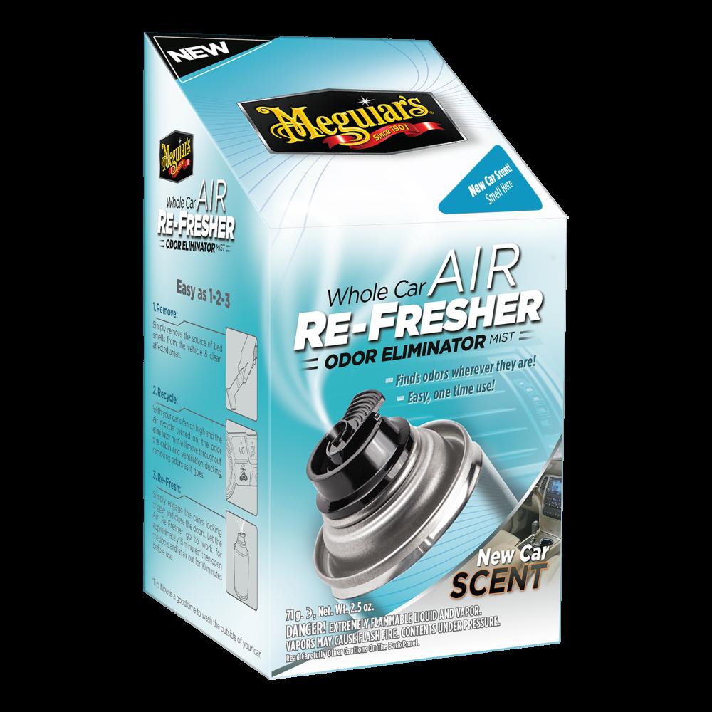 Dezinfekcia klimatizácie + pohlcovač pachov + osviežovač vzduchu - Meguiars Air Re-Fresher Odor Eliminator - New Car Scent, 71 g