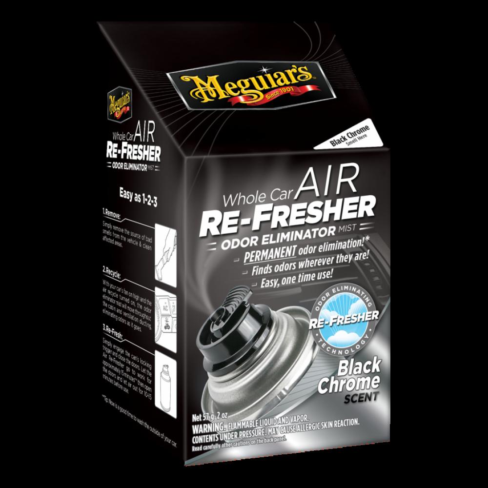 Dezinfekcia klimatizácie + pohlcovač pachov + osviežovač vzduchu - Meguiars Air Re-Fresher Odor Eliminator - Black Chrome, 71 g