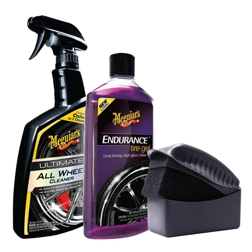 Sada na umývanie kolies a impregnáciu pneumatík - Meguiar's Wheel & Tire Kit