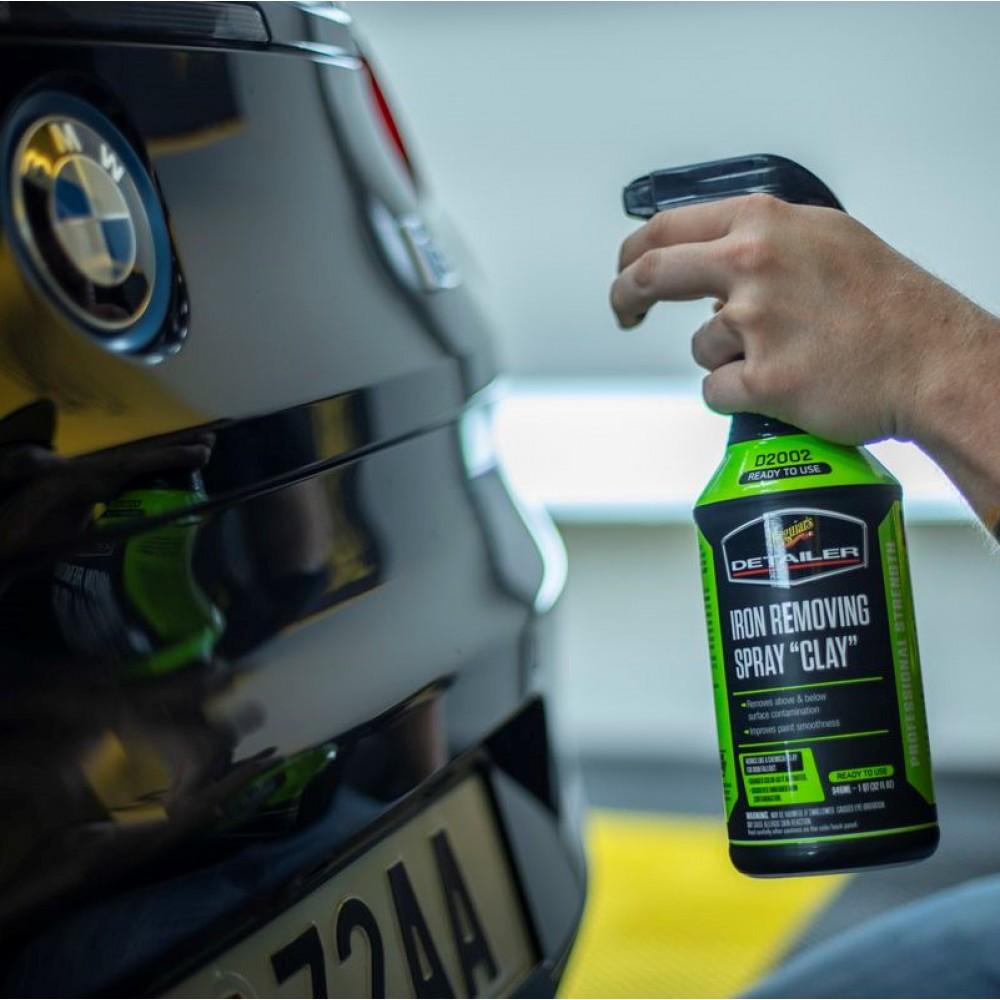 """Meguiar's Iron Removing Spray """"Clay"""" - Prípravok pre chemickú dekontamináciu laku a ďalších povrchov, 946ml"""