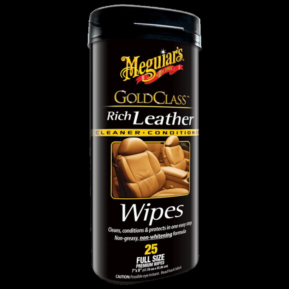 Obrúsky na kožu, 25ks - Meguiars Gold Class Rich Leather Wipes
