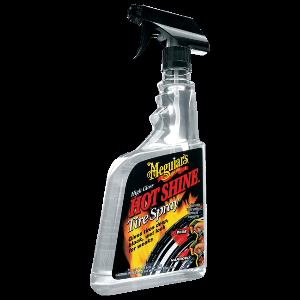 Vysoký lesk na pneumatiky v rozprašovači - Meguiars Hot Shine Tire Spray Trigger, 710 ml