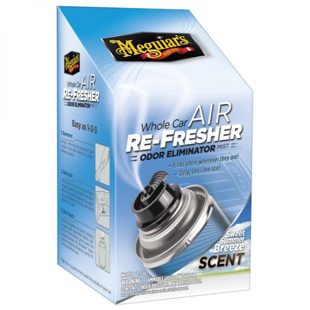 Dezinfekcia klimatizácie + pohlcovač pachov + osviežovač vzduchu - Meguiars Air Re-Fresher Odor Eliminator - Summer Breeze, 71 g
