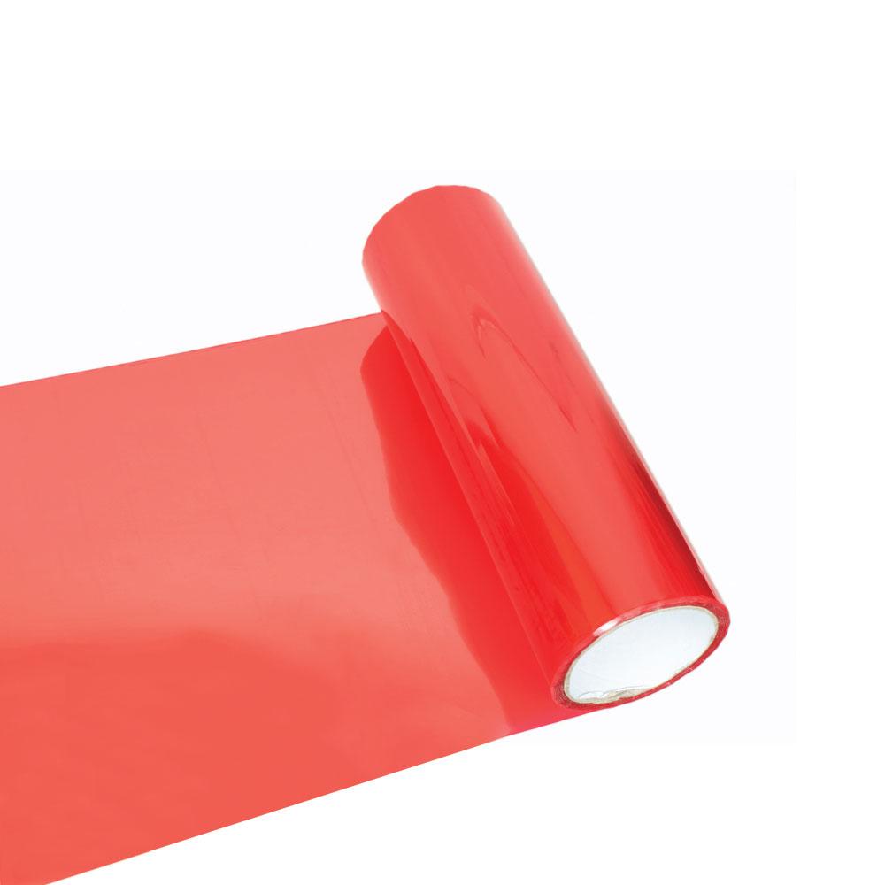 Fólia na svetlá - svetlo červená 30cm