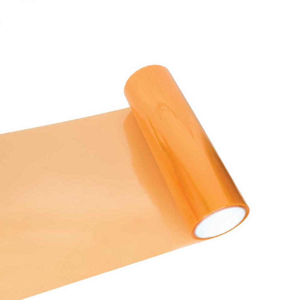 Fólia na svetlá - svetlo oranžová 30cm