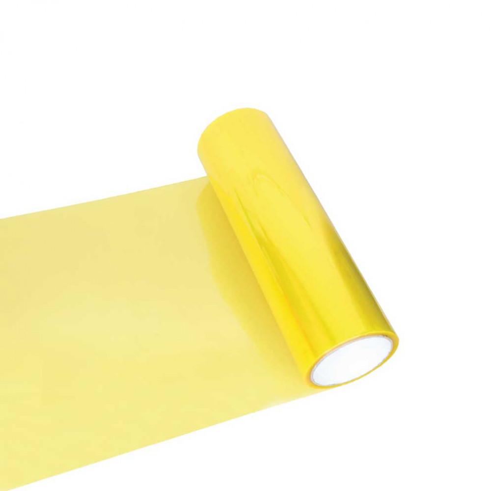 Fólia na svetlá - svetlo žltá 30cm