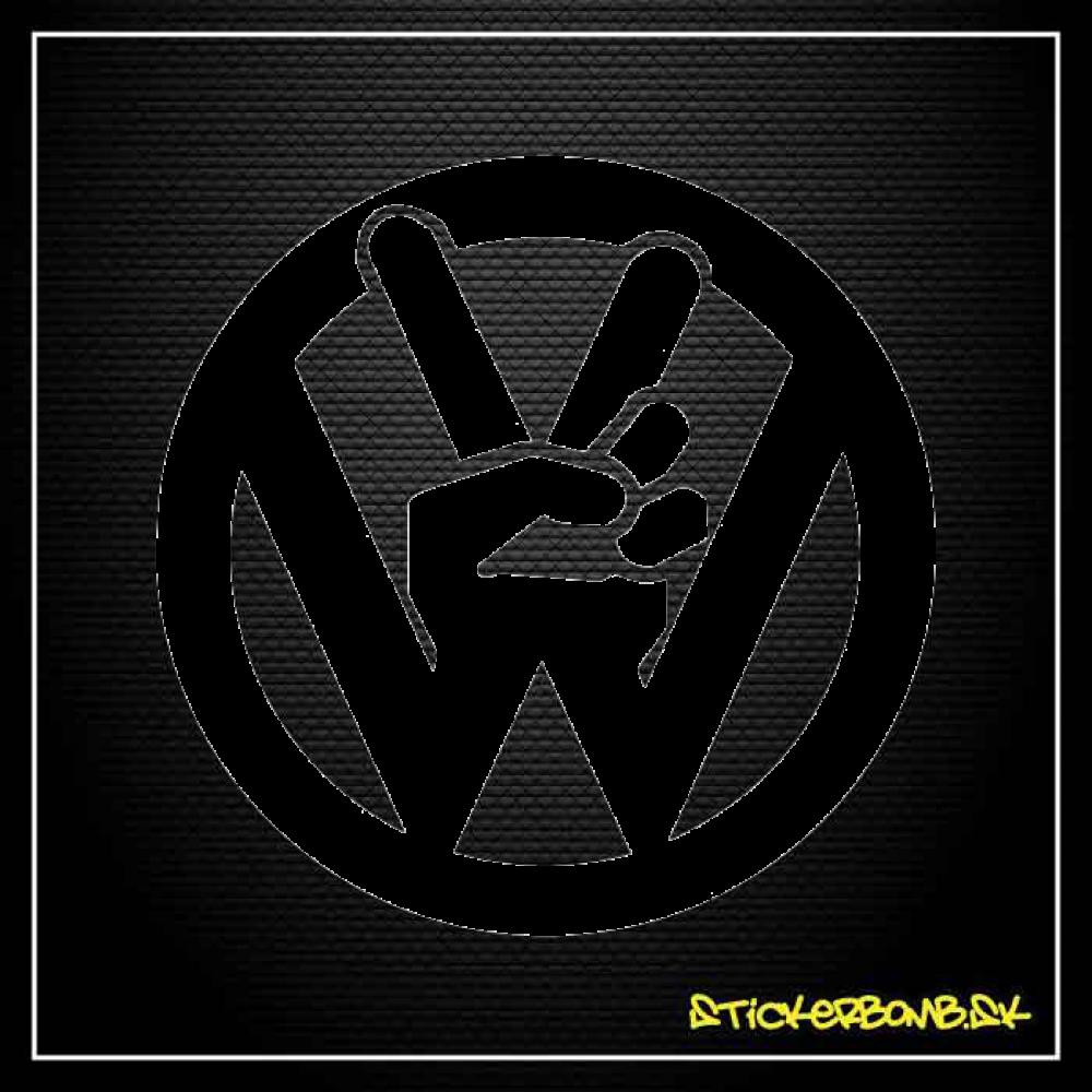 Volkswagen Peace - samolepka