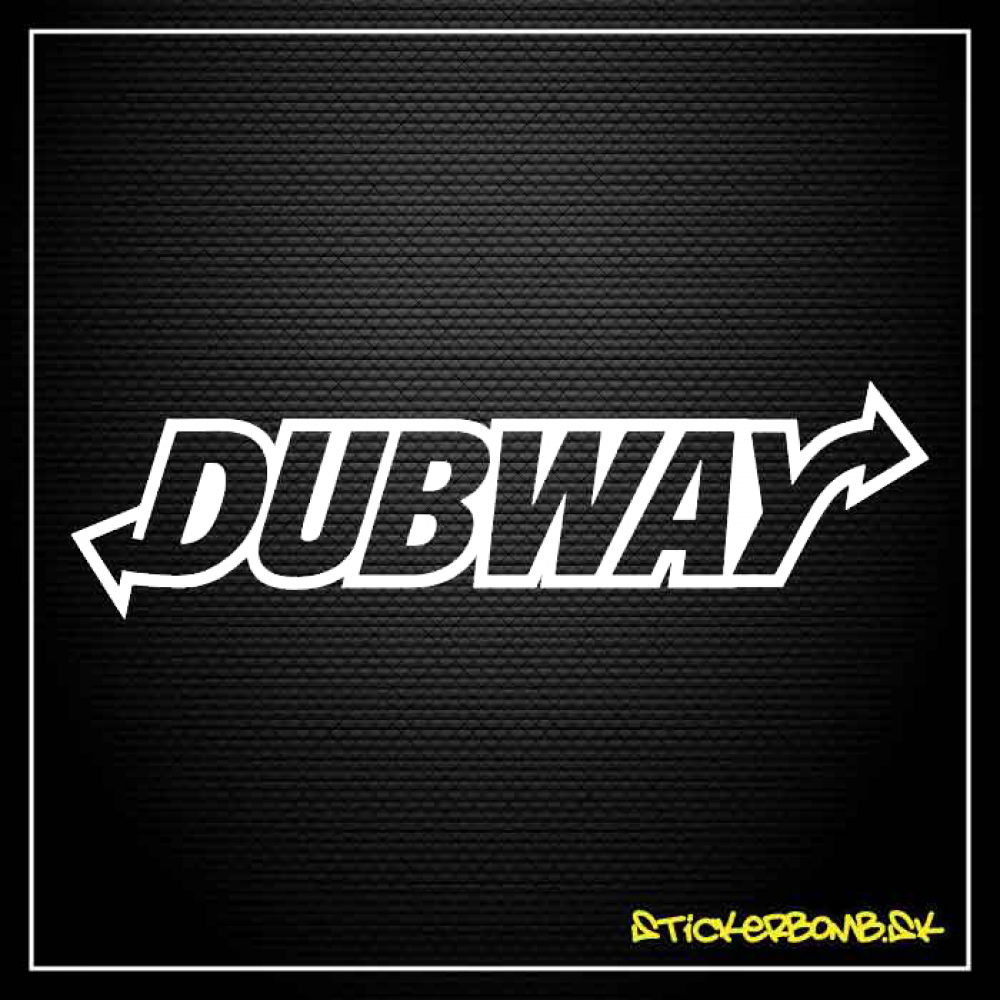 Dubway - samolepka