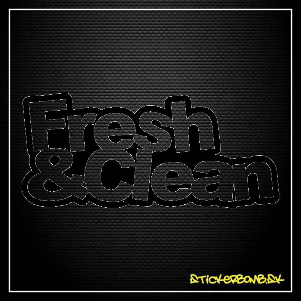 Fresh & Clean - samolepka