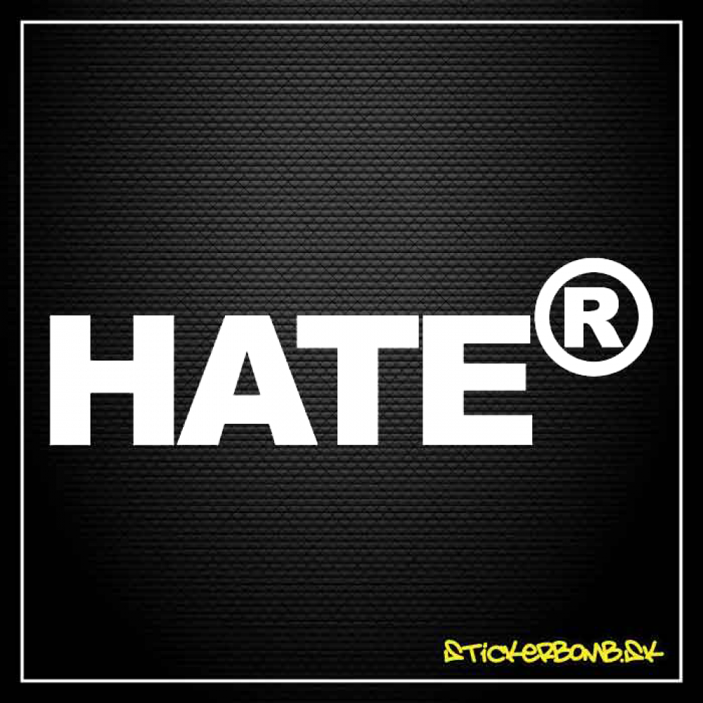 HateR - samolepka