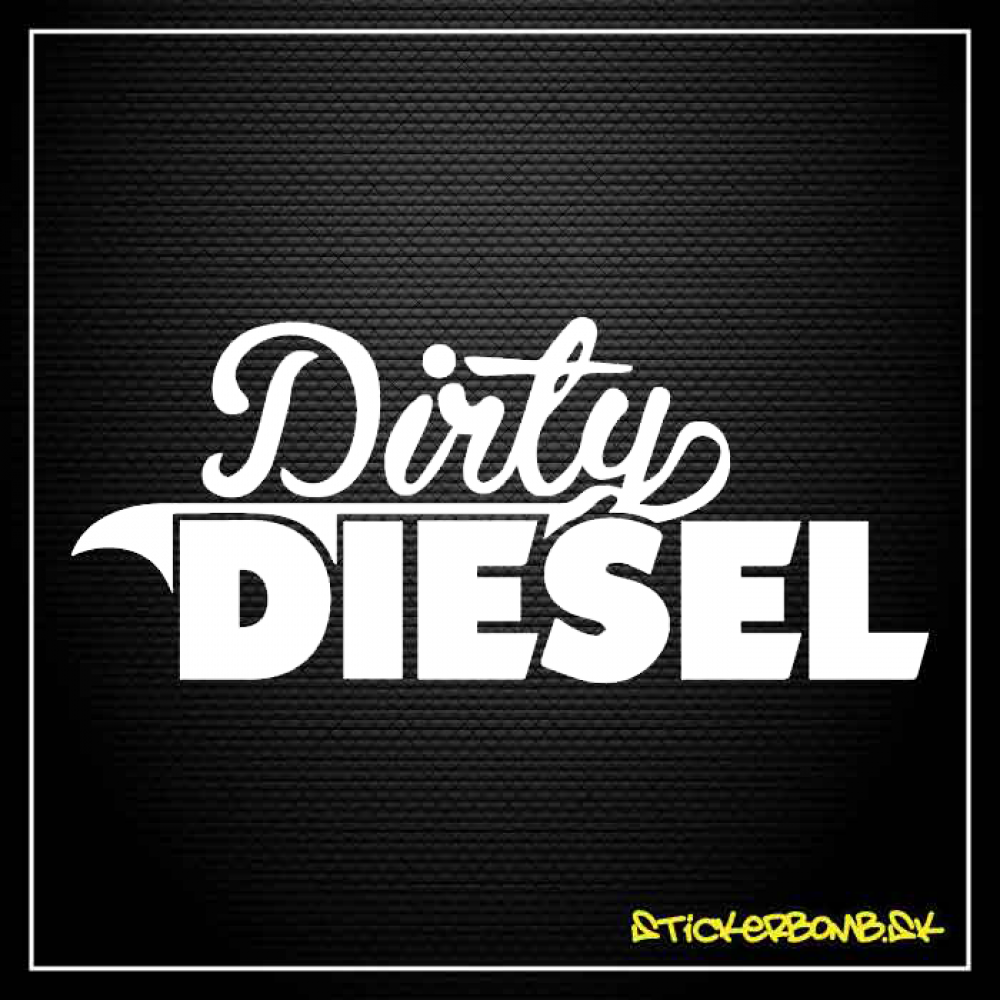 Dirty Diesel - samolepka