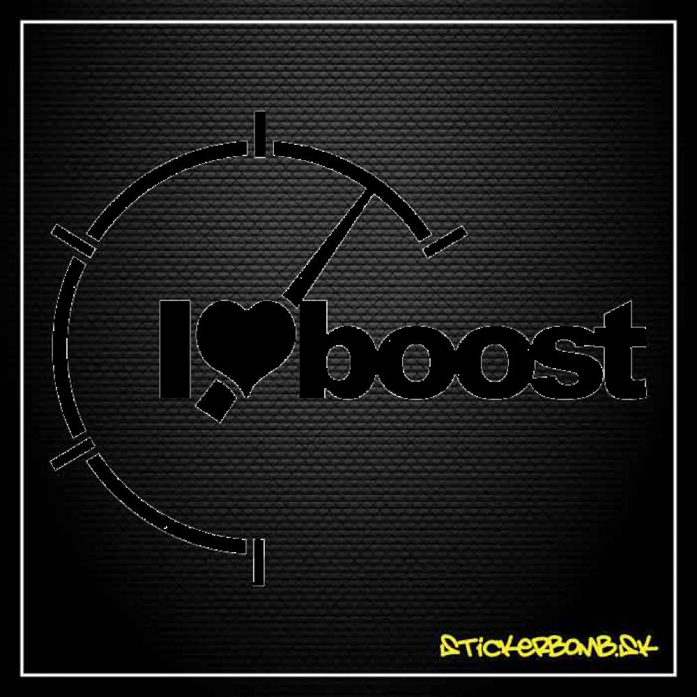 I Love Boost - samolepka