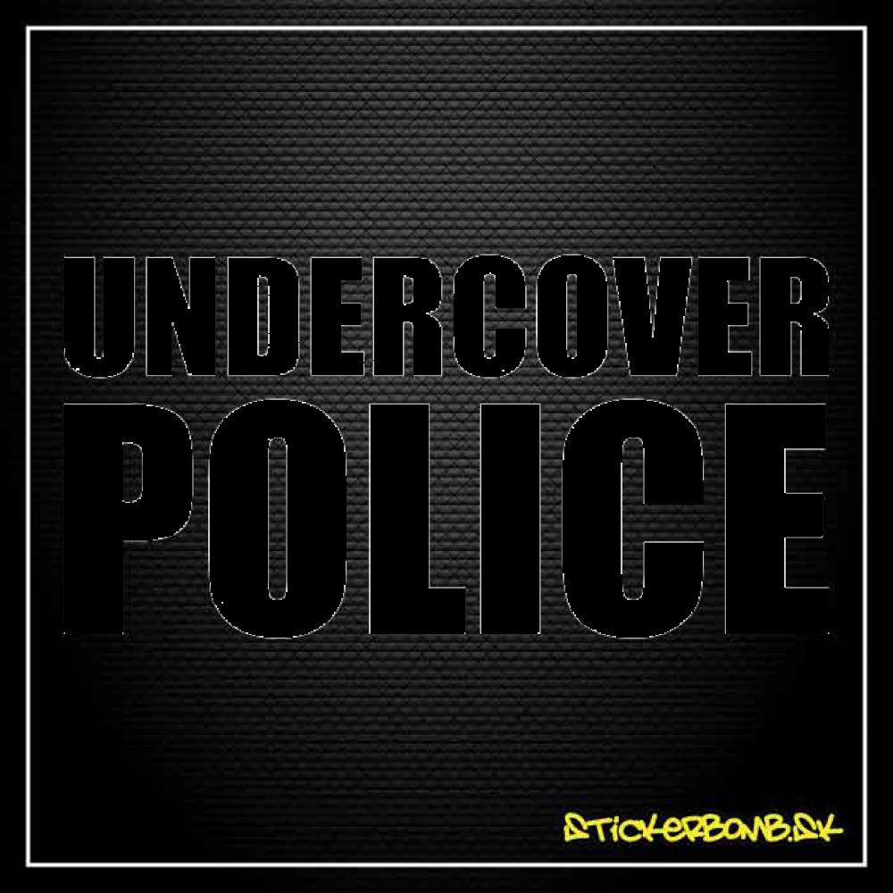 Undercover Police - samolepka