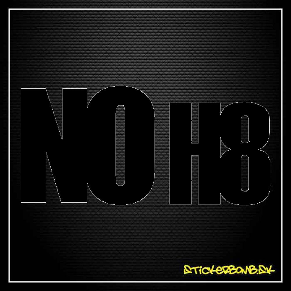 NO H8 - samolepka