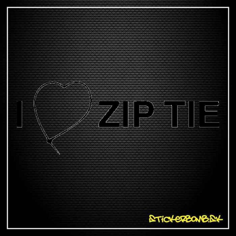 I LOVE ZIP TIE - samolepka