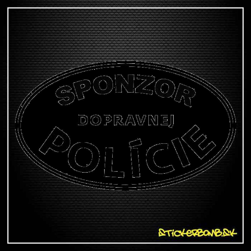 Sponzor Dopravnej Polície - samolepka
