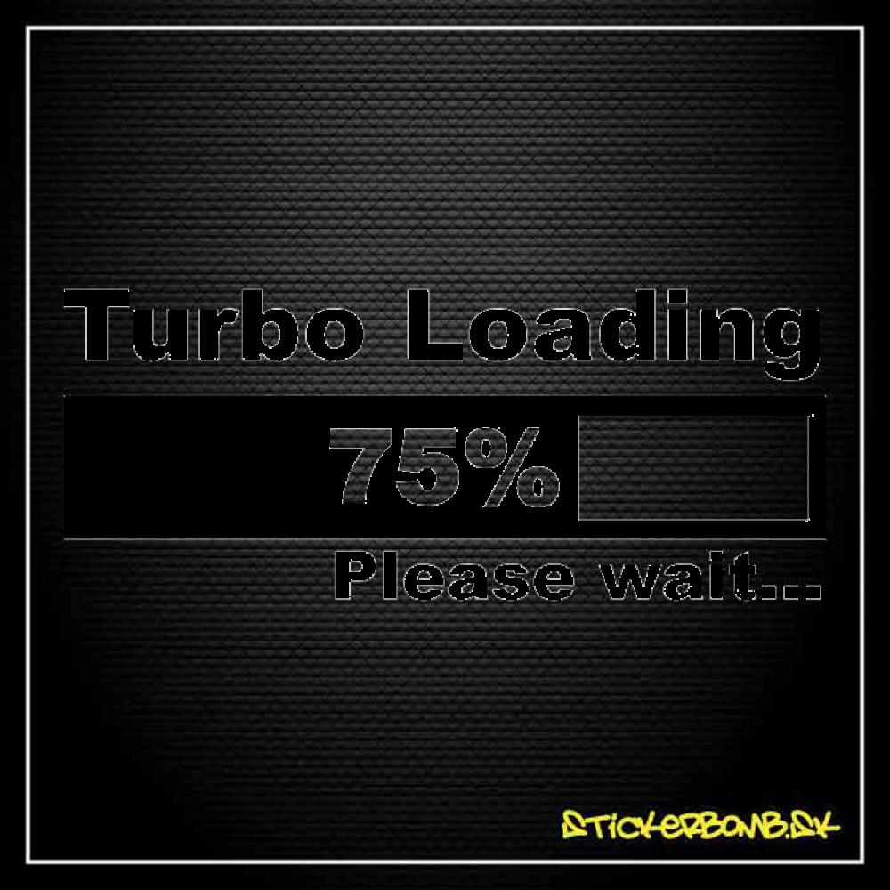 Turbo Loading  - samolepka