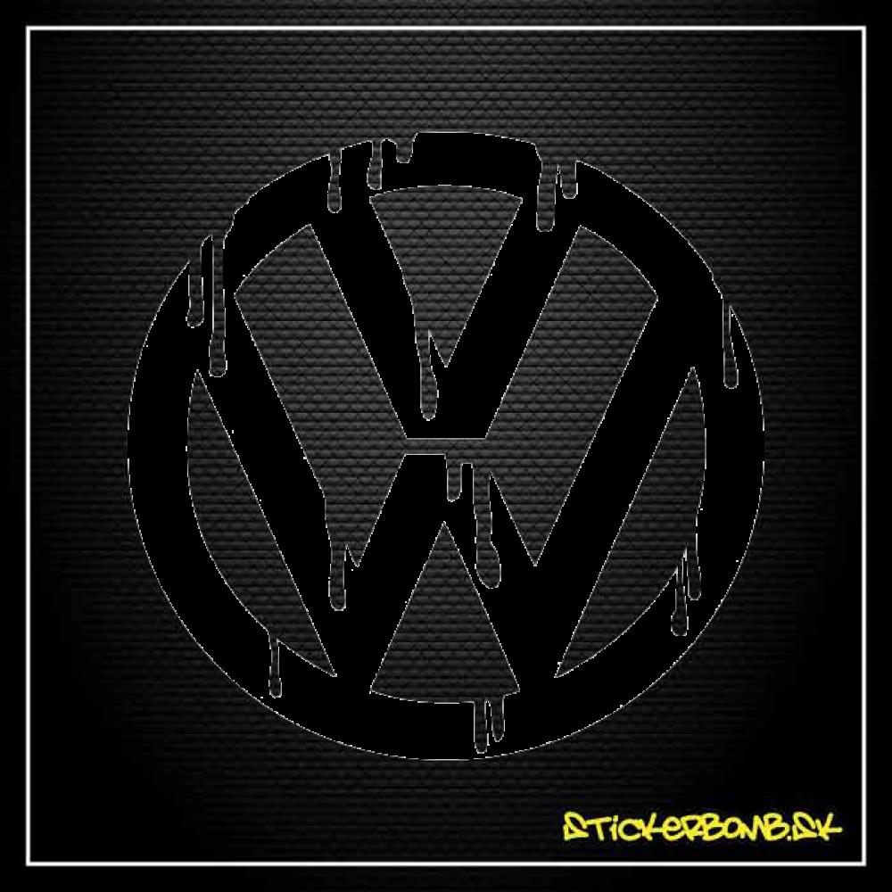 VW blood - samolepka