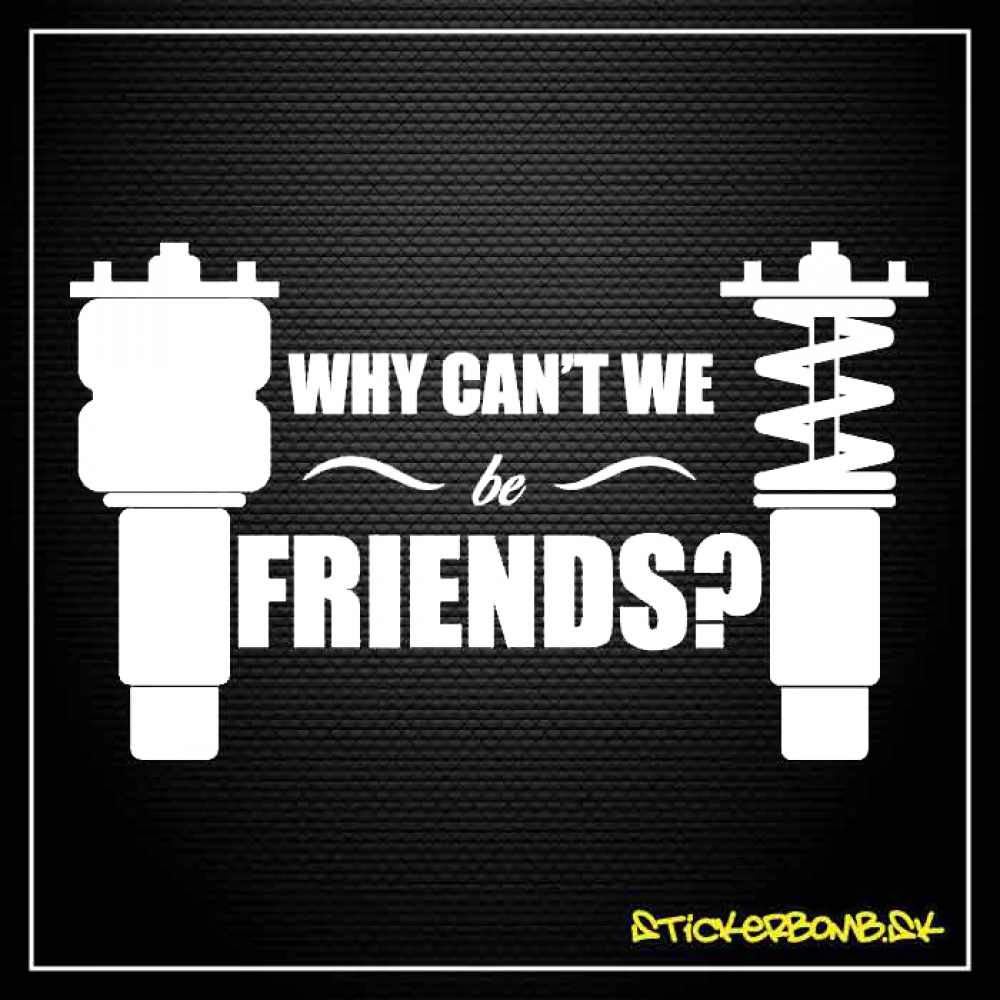 Why Can't We A Friends? - samolepka