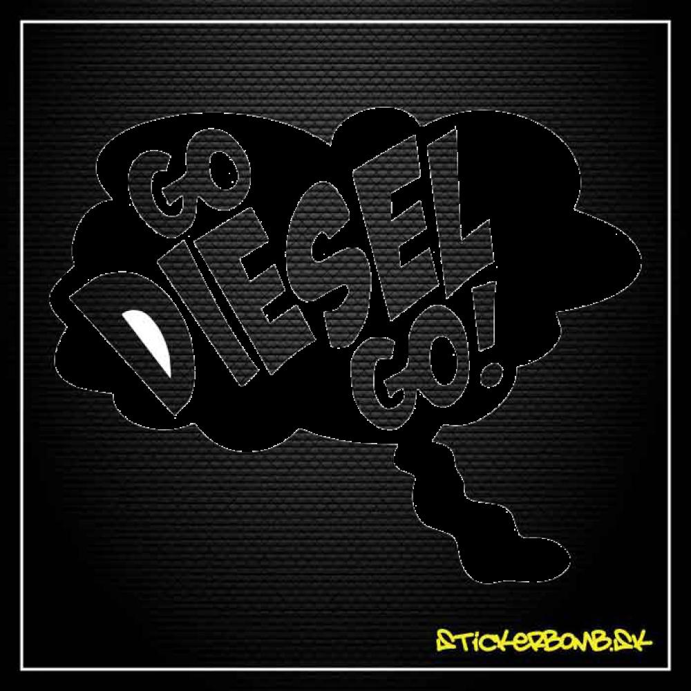 Go Diesel Go - samolepka