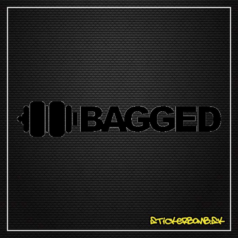 Nálepka na sklo - BAGGED - samolepka