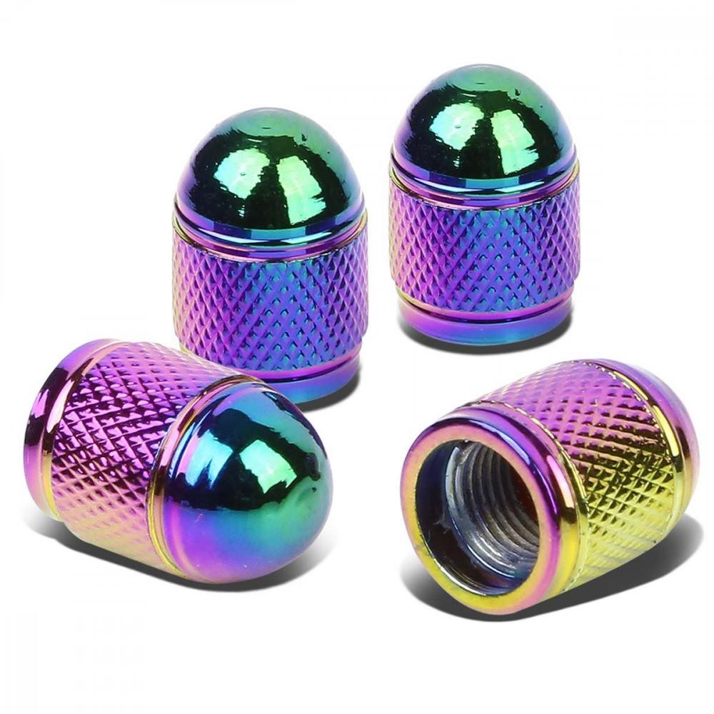 Krytky na ventily - Bullet neochrome, 4ks