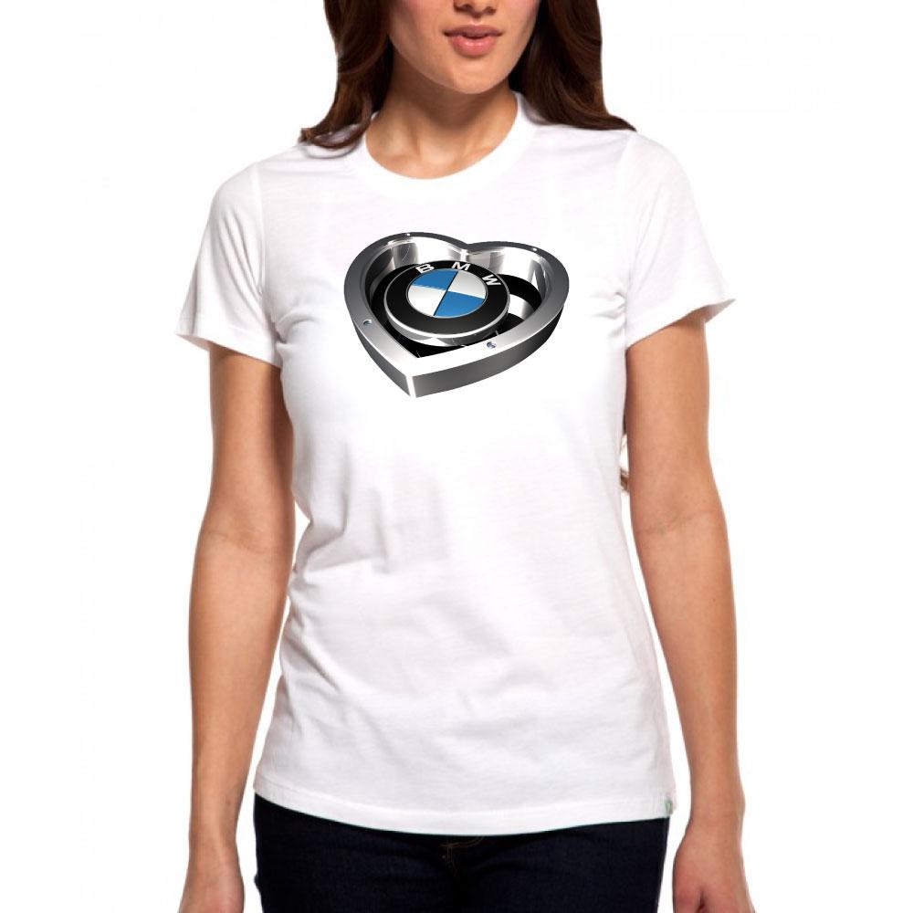 Dámske tričko BMW HEART - Biele