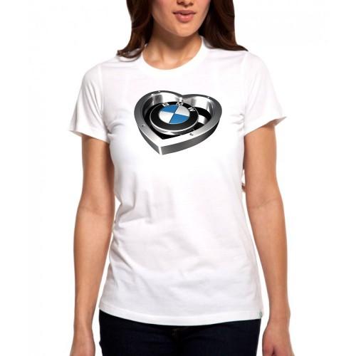 407bea98c24c Dámske tričko BMW HEART - Biele