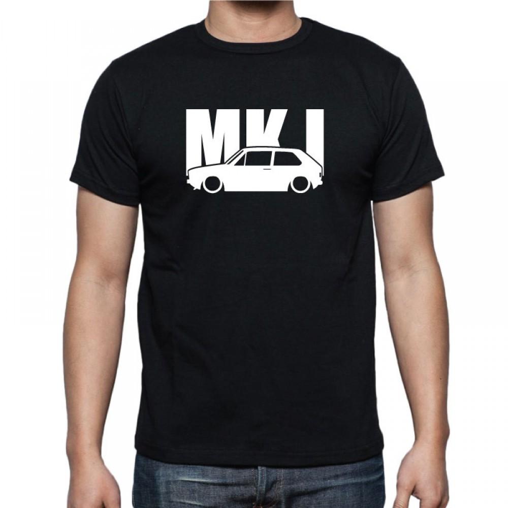 Pánske tričko VW GOLF MK 1 - čierne