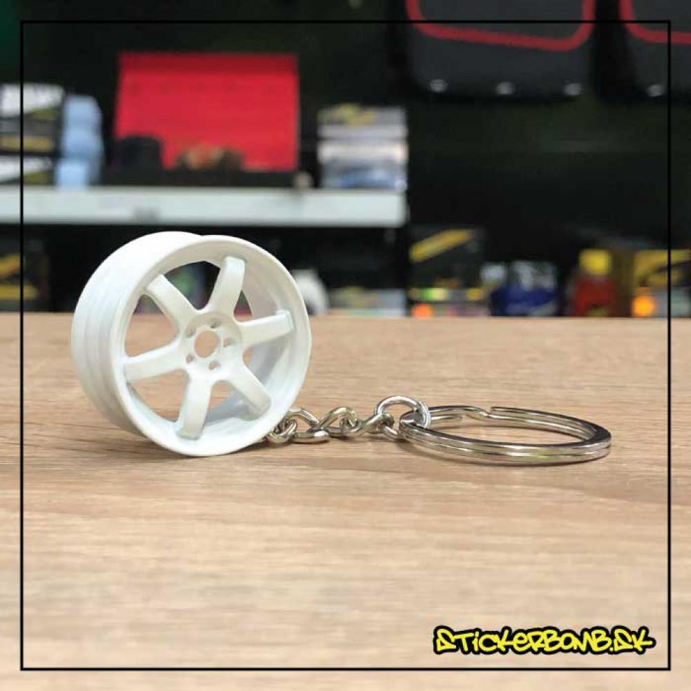 Prívesok na kľúče - Wheel White